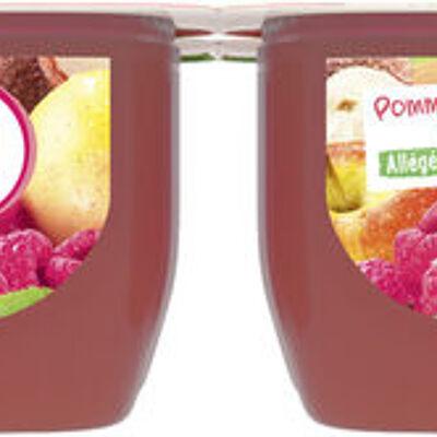 Dess.fruits pommme framboise litchi allégé sucre (U)