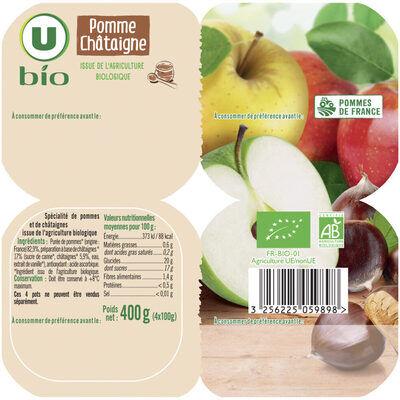 Spécialité de fruits pomme châtaigne (U bio)