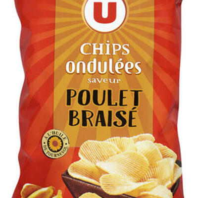 Chips ondulées saveur poulet braisé (U)