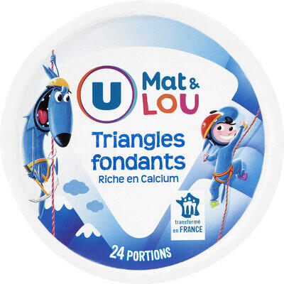 Fromage pasteurisé triangles fondants fromagers 5%mg (U mat & lou)
