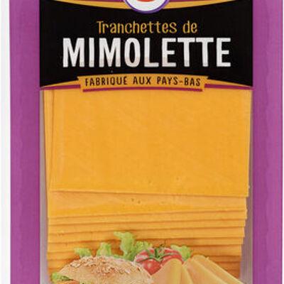 Fromage de hollande à pâte pressée en tranches mimolette au lait pasteurisé 24% de mg (U)