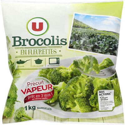 Brocolis fleurettes précuits vapeur (U)