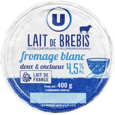 Fromage blanc au lait de brebis enrichi vit.d 5% de matière grasse (U)