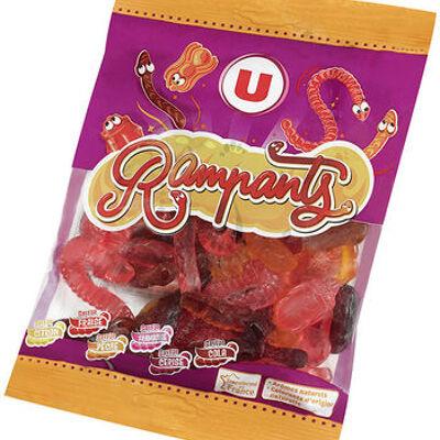 Bonbons gélifiés les rampants (U)