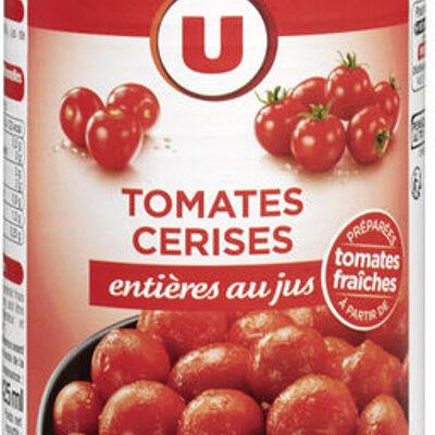 Tomates cerises entières au jus (U)