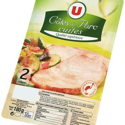 Côte de porc cuites (U)