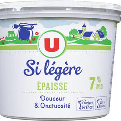 Préparation à base de lait écrémé et de crème 7% de mg (U)