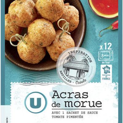 Acras à la morue + sauce tomate (U)