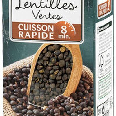 Lentilles vertes cuisson rapide 8 minutes (U)