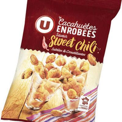 Cacahuètes enrobées saveur sweet chili (U)