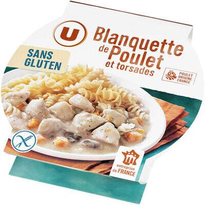Blanquette de poulet et pâtes sans gluten (U)