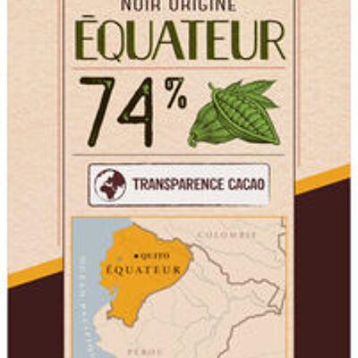 Tablette de chocolat noir 74% de cacao d'equateur (U)