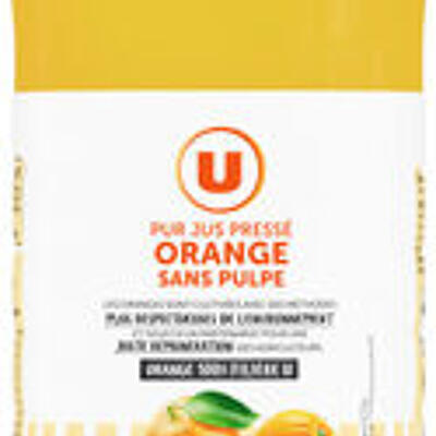 Pur jus d'orange sans pulpe (U)