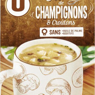 Soupe instantanée aux champignons et croûtons (U)