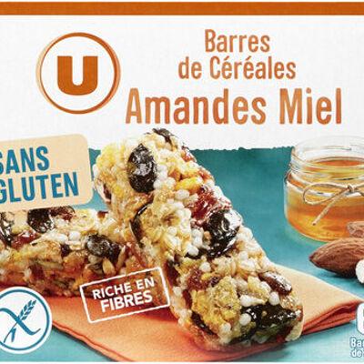 Barres de céréales fruits secs sans glutern (U)