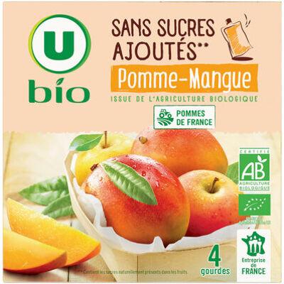 Purée pomme mangue sans sucres ajoutés (U bio)