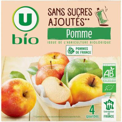 Purée de pomme sans sucres ajoutés (U bio)