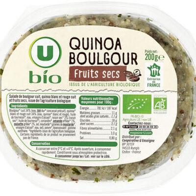 Salade quinoa boulgour et fruits secs (U bio)