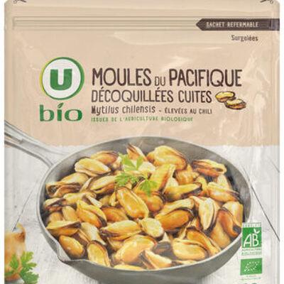 Moules du pacifique cuites dé-coquillées (U)