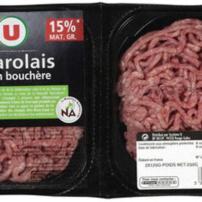 Steak haché, 15% mat.gr (U)