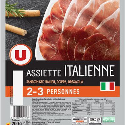 Assiette de charcuterie italienne jambon, coppa et bresaola (U)