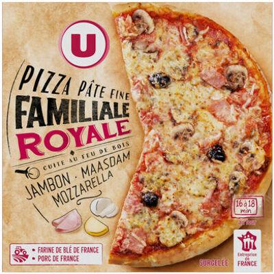 Pizza familiale royale cuite au feu de bois (U)