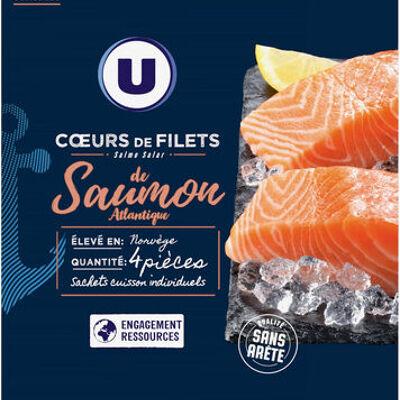 Coeurs de filets de saumon atlantique (U)