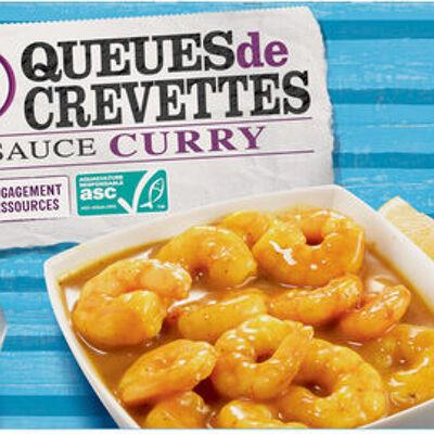 Queues de crevettes asc décortiquées deveinées avec sauce curry surgelées (U)