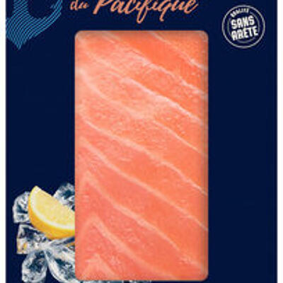 Filet de saumon rouge du pacifique msc avec peau sans arête congelé (U)