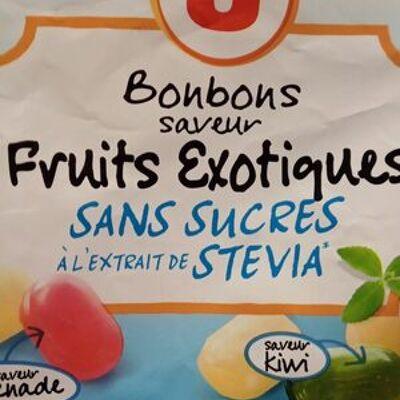 Bonbons sans sucres fruits exotiques (U)
