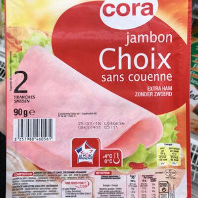 Jambon choix sans couenne (Cora)