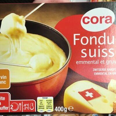 Fondue suisse emmental et gruyère au vin blanc (16,5% mg) (Cora)