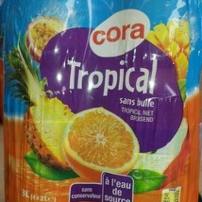Tropical à l'eau de source sans bulle (Cora)