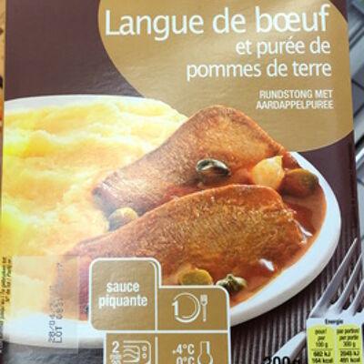 Langue de boeuf sauce piquante et purée de pommes de terre (Cora)