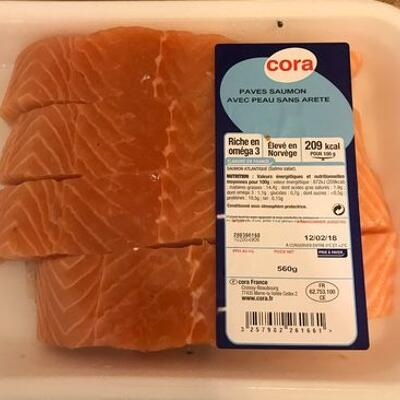 Pave saumon (Cora)