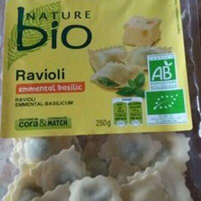 Ravioli emmental basilic bio (Nature bio)