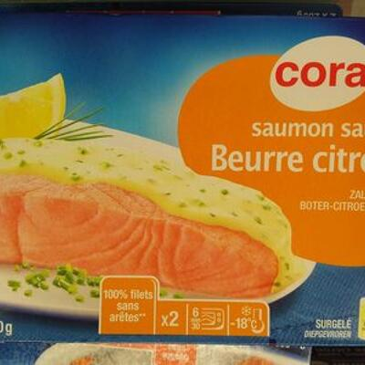 Saumon sauce beurre citron surgelé (Cora)
