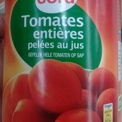 Tomates entières pelées au jus (Cora)