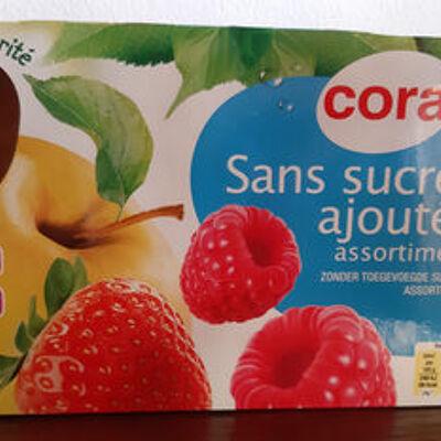 Gourde pomme fraise pomme framboise sans sucre ajoutés (Cora)