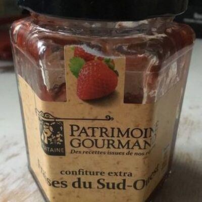 Confiture extra fraise du sud ouest (Patrimoine gourmand)