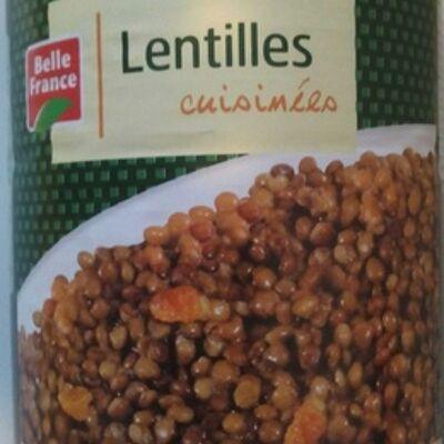 Lentilles cuisinées (Belle france)
