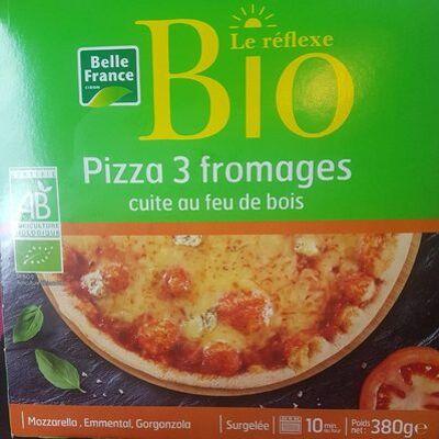 Pizza 3 fromages cuite au feu de bois (Belle france)