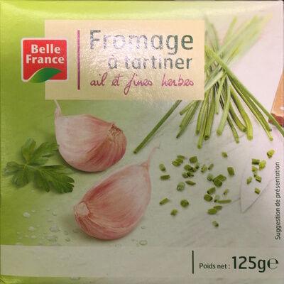 Fromage à tartiner, ail et fines herbes (24 % mg) (Belle france)