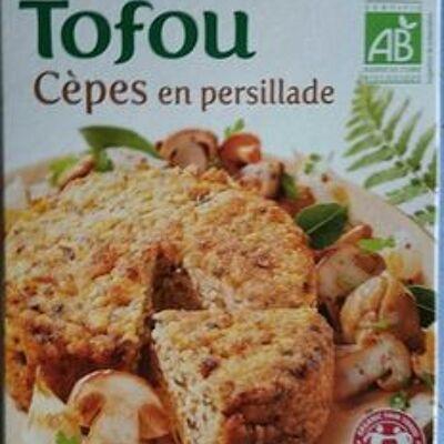 Croque tofou cèpes en persillade (Soy)