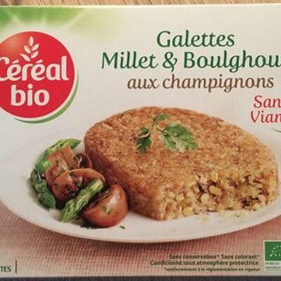 Galettes millet et boulghour aux champignons (Céréal bio)