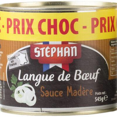 Langue de bœuf sauce madère (Stéphan)