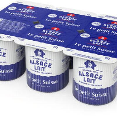 Le petit suisse nature au lait entier (Alsace lait)