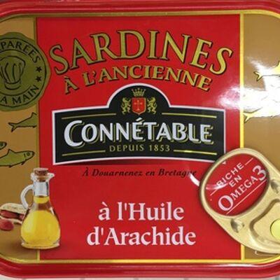 Sardines à l'ancienne à l'huile d'arachide (Connétable)