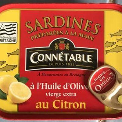 Sardines à l'huile d'olive citron connétable (Connétable)