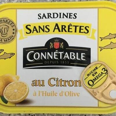 Sardines sans arêtes au citron connétable (Connétable)